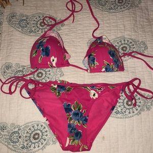 Hollister Pink Flower Bikini